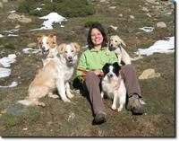 Natalia Cuadrado con sus perros