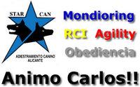 El club Starcan apoya a Carlos